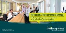 Gelungener Startschuss am 28.01.2016 - Die Frey Competence GmbH ist nun offiziell eröffnet