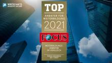FOCUS Business Auszeichnung | TOP-Weiterbildungsdienstleister 2021